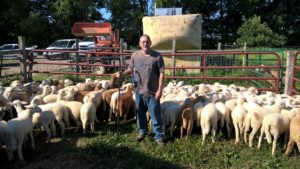 Staff Member Rick Uses Low-Tech Tool to Separate Lambs at This Old Farm's  Pasture Last Week